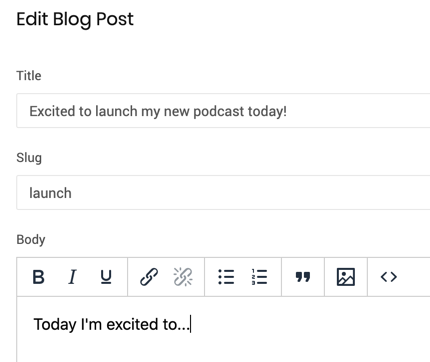 Image showing Write a Blog