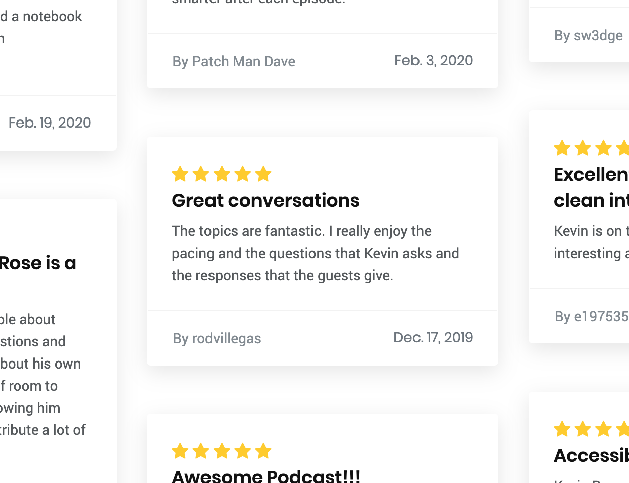 Image showing Imported Reviews