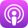 Apple Podcasts podcast player icon